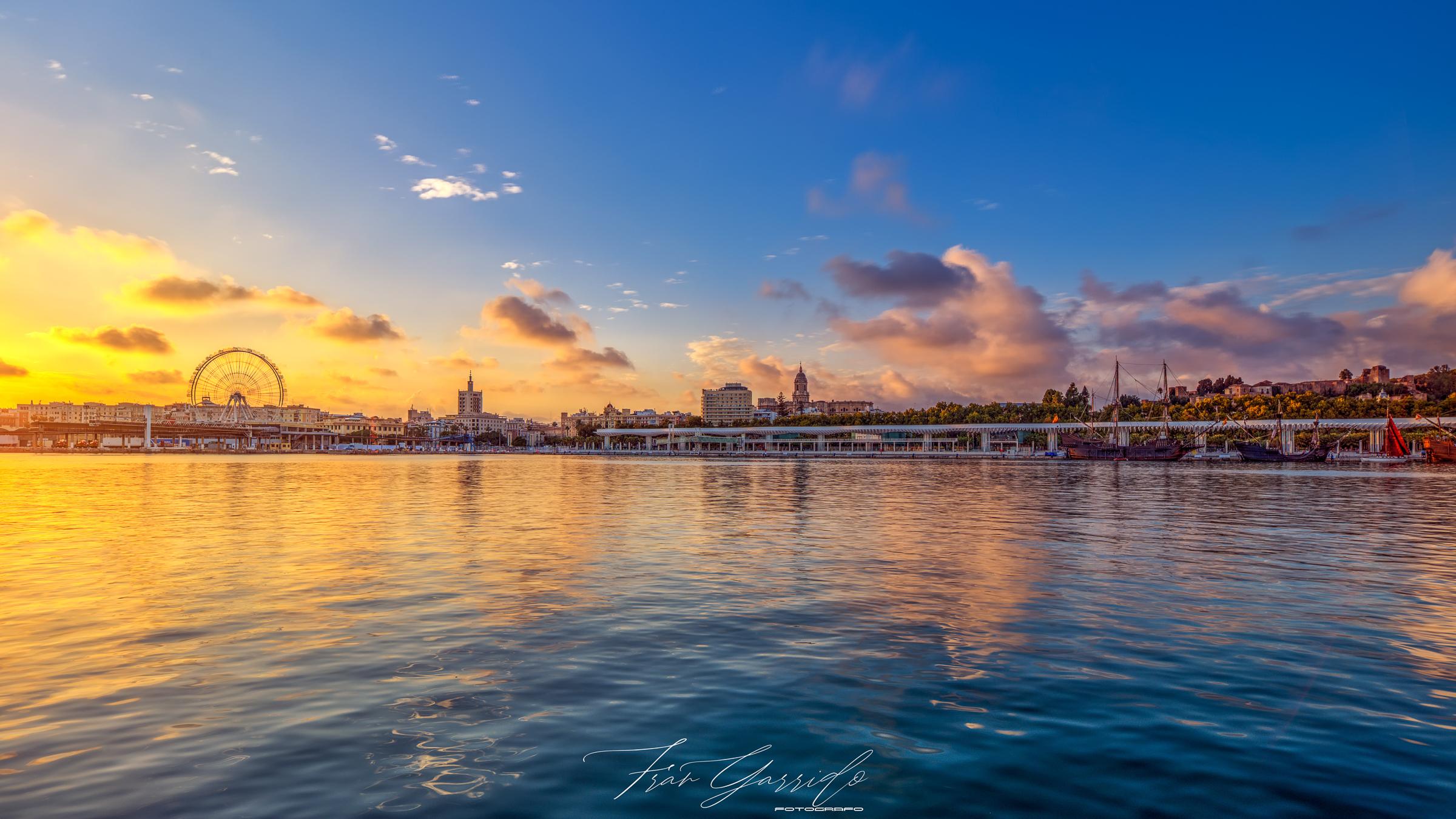 Vistas de Málaga - Muelle